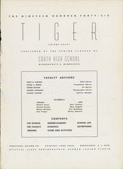 Page 5, 1946 Edition, South High School - Tiger Yearbook (Minneapolis, MN) online yearbook collection