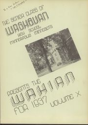 Page 7, 1937 Edition, Washburn High School - Wahian Yearbook (Minneapolis, MN) online yearbook collection