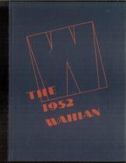 1952 Edition, Washburn High School - Wahian Yearbook (Minneapolis, MN)
