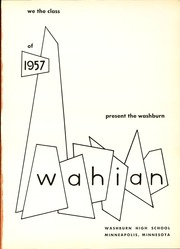 Page 5, 1957 Edition, Washburn High School - Wahian Yearbook (Minneapolis, MN) online yearbook collection