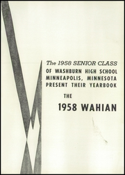 Page 5, 1958 Edition, Washburn High School - Wahian Yearbook (Minneapolis, MN) online yearbook collection