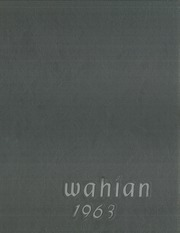 1963 Edition, Washburn High School - Wahian Yearbook (Minneapolis, MN)