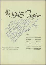 Page 3, 1945 Edition, Worthington High School - Trojan Yearbook (Worthington, MN) online yearbook collection