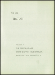 Page 5, 1951 Edition, Worthington High School - Trojan Yearbook (Worthington, MN) online yearbook collection