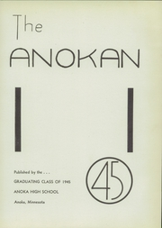Page 5, 1945 Edition, Anoka High School - Anokan Yearbook (Anoka, MN) online yearbook collection
