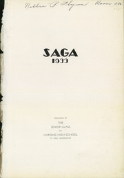 Page 5, 1933 Edition, Harding High School - Saga Yearbook (St Paul, MN) online yearbook collection