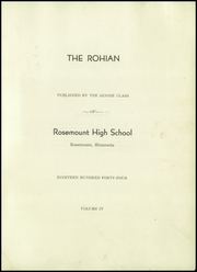 Page 5, 1944 Edition, Rosemount High School - Rohian Yearbook (Rosemount, MN) online yearbook collection