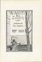 Page 11, 1922 Edition, Central High School - Zenith Yearbook (Duluth, MN) online yearbook collection
