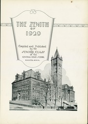 Page 9, 1929 Edition, Central High School - Zenith Yearbook (Duluth, MN) online yearbook collection