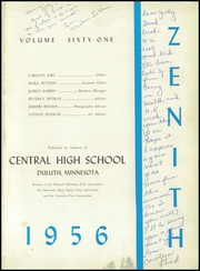 Page 5, 1956 Edition, Central High School - Zenith Yearbook (Duluth, MN) online yearbook collection