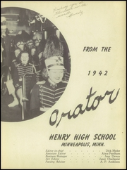 Page 7, 1942 Edition, Patrick Henry High School - Orator Yearbook (Minneapolis, MN) online yearbook collection