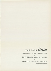 Page 5, 1956 Edition, Patrick Henry High School - Orator Yearbook (Minneapolis, MN) online yearbook collection