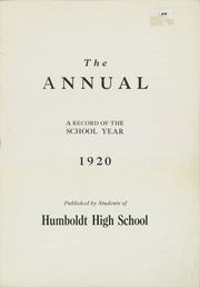 Page 3, 1920 Edition, Humboldt High School - Life Yearbook (St Paul, MN) online yearbook collection