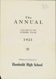 Page 3, 1921 Edition, Humboldt High School - Life Yearbook (St Paul, MN) online yearbook collection