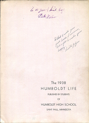 Page 3, 1938 Edition, Humboldt High School - Life Yearbook (St Paul, MN) online yearbook collection