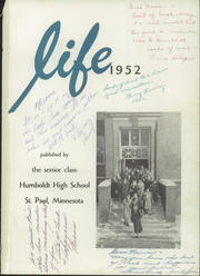 Page 5, 1952 Edition, Humboldt High School - Life Yearbook (St Paul, MN) online yearbook collection