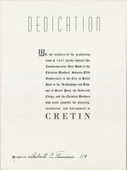 Page 4, 1947 Edition, Cretin High School - Cretinite Yearbook (St Paul, MN) online yearbook collection