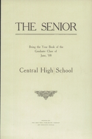 Page 7, 1908 Edition, Central High School - Centralian Yearbook (Minneapolis, MN) online yearbook collection