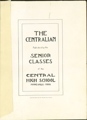 Page 7, 1916 Edition, Central High School - Centralian Yearbook (Minneapolis, MN) online yearbook collection