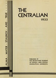 Page 5, 1933 Edition, Central High School - Centralian Yearbook (Minneapolis, MN) online yearbook collection