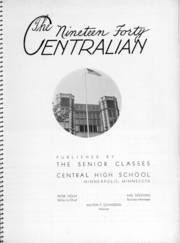 Page 7, 1940 Edition, Central High School - Centralian Yearbook (Minneapolis, MN) online yearbook collection