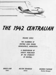 Page 7, 1942 Edition, Central High School - Centralian Yearbook (Minneapolis, MN) online yearbook collection