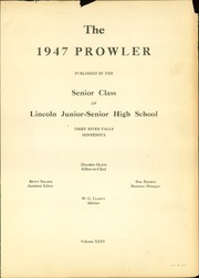 Page 5, 1947 Edition, Lincoln High School - Prowler Yearbook (Thief River Falls, MN) online yearbook collection