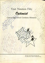 Page 5, 1950 Edition, Central High School - Optimist Yearbook (Crookston, MN) online yearbook collection