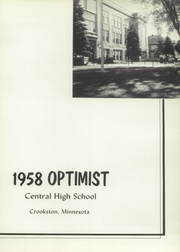 Page 5, 1958 Edition, Central High School - Optimist Yearbook (Crookston, MN) online yearbook collection