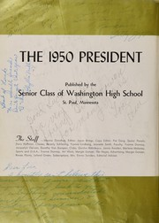 Page 6, 1950 Edition, Washington High School - President Yearbook (St Paul, MN) online yearbook collection