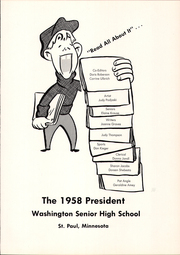 Page 5, 1958 Edition, Washington High School - President Yearbook (St Paul, MN) online yearbook collection