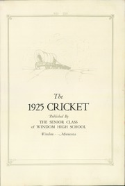 Page 5, 1925 Edition, Windom High School - Winhias Yearbook (Windom, MN) online yearbook collection