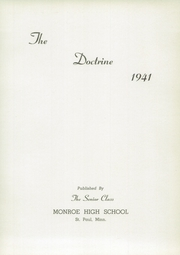 Page 5, 1941 Edition, Monroe High School - Doctrine Yearbook (St Paul, MN) online yearbook collection