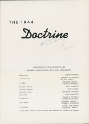 Page 7, 1944 Edition, Monroe High School - Doctrine Yearbook (St Paul, MN) online yearbook collection