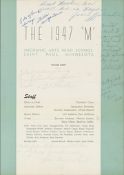 Page 5, 1947 Edition, Mechanic Arts High School - M Yearbook (St Paul, MN) online yearbook collection