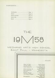 Page 5, 1958 Edition, Mechanic Arts High School - M Yearbook (St Paul, MN) online yearbook collection