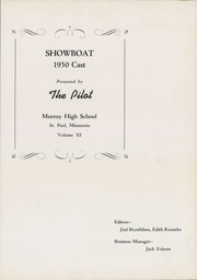Page 5, 1950 Edition, Murray High School - Pilot Yearbook (St Paul, MN) online yearbook collection