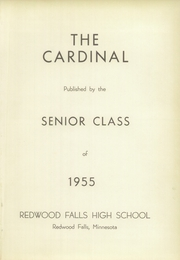 Page 5, 1955 Edition, Redwood Falls High School - Cardinal Yearbook (Redwood Falls, MN) online yearbook collection