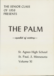 Page 5, 1959 Edition, St Agnes High School - Palm Yearbook (St Paul, MN) online yearbook collection