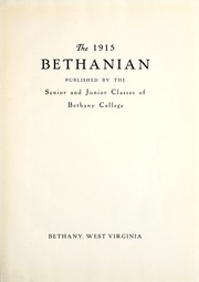 Page 7, 1915 Edition, Bethany College - Bethanian Yearbook (Bethany, WV) online yearbook collection