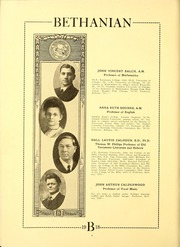 Page 12, 1918 Edition, Bethany College - Bethanian Yearbook (Bethany, WV) online yearbook collection