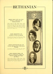 Page 15, 1918 Edition, Bethany College - Bethanian Yearbook (Bethany, WV) online yearbook collection