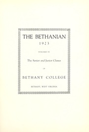Page 7, 1923 Edition, Bethany College - Bethanian Yearbook (Bethany, WV) online yearbook collection
