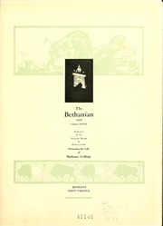 Page 7, 1929 Edition, Bethany College - Bethanian Yearbook (Bethany, WV) online yearbook collection
