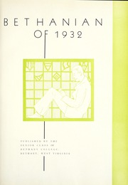 Page 7, 1932 Edition, Bethany College - Bethanian Yearbook (Bethany, WV) online yearbook collection