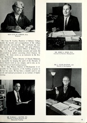 Page 17, 1962 Edition, Bethany College - Bethanian Yearbook (Bethany, WV) online yearbook collection