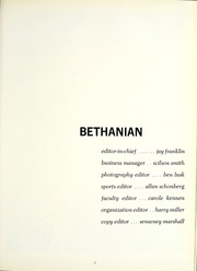 Page 11, 1965 Edition, Bethany College - Bethanian Yearbook (Bethany, WV) online yearbook collection