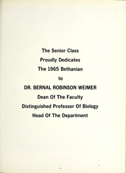 Page 15, 1965 Edition, Bethany College - Bethanian Yearbook (Bethany, WV) online yearbook collection