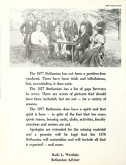 Page 12, 1977 Edition, Bethany College - Bethanian Yearbook (Bethany, WV) online yearbook collection