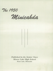 Page 5, 1950 Edition, Moose Lake High School - Minicahda Yearbook (Moose Lake, MN) online yearbook collection